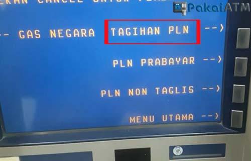 Pilih TAGIHAN PLN.