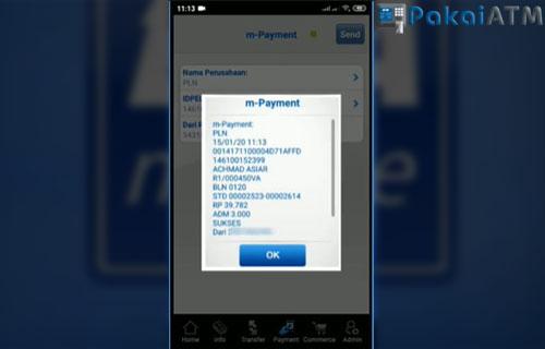 Transaksi pembayaran sukses silahkan simpan bukti pembayaran.