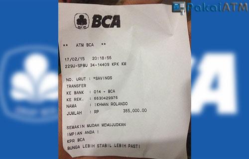 Bukti Transfer ATM BCA