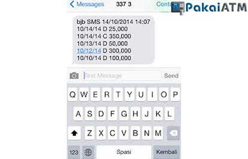 Cetak Bukti Transfer BJB lewat Layanan SMS