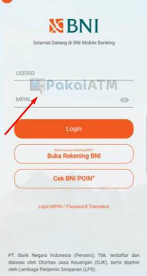 Masukkan USER ID MPIN