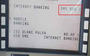 Pilih menu SMS BCA