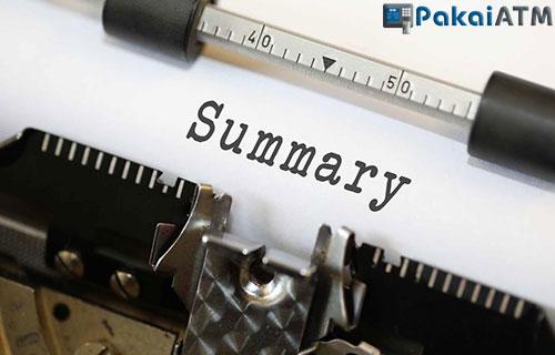 Cara Mengisi Summary Bank Mandiri