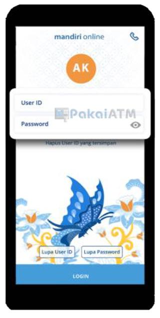 Masukkan User ID dan Password