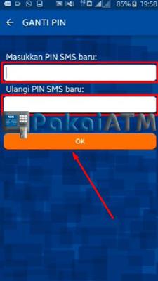 5. Input PIN Baru