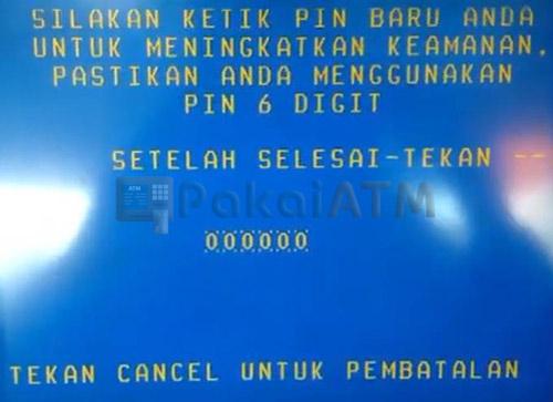 Buat PIN ATM Baru