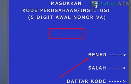Input Kode Perusahaan