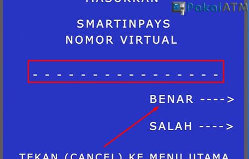 Input Nomor Virtual Account