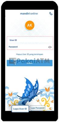 Login ke Aplikasi Mandiri Online