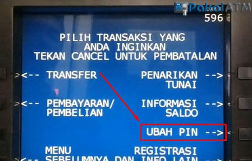 Pilih Menu Ubah PIN