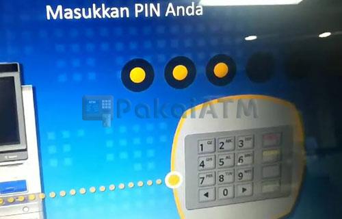 8. Masukkan PIN ATM Lama