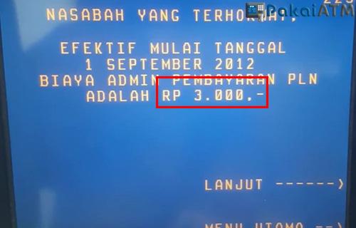 Biaya Bayar Tambah Daya PLN Lewat ATM BNI