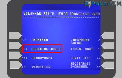 Cara Mengecek Rekening Koran BTN Lewat ATM