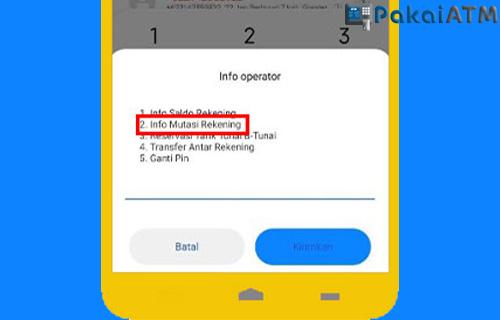 Cara Mengecek Rekening Koran Lewat SMS Banking