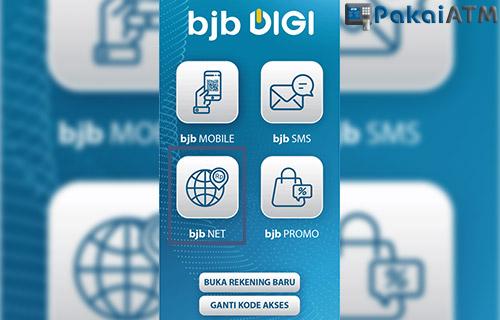 Cek Saldo ATM BJB lewat BJB Net Versi Aplikasi