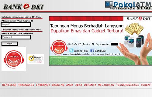 Login iBanking Bank DKI