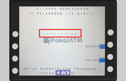 Masukkan ID Pelanggan 1