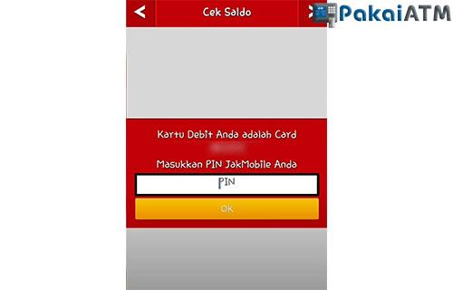 Masukkan PIN JakOne Mobile 1