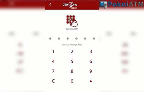 Masukkan PIN JakOne Mobile