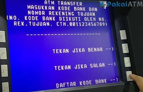 Pilih Daftar Kode Bank