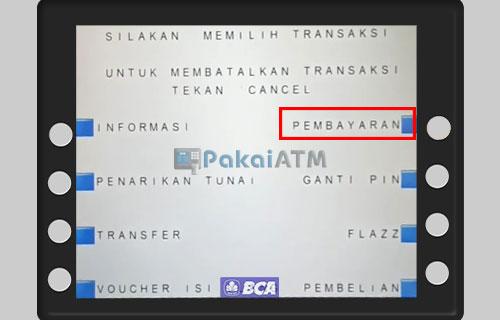 Pilih Transaksi Pembayaran