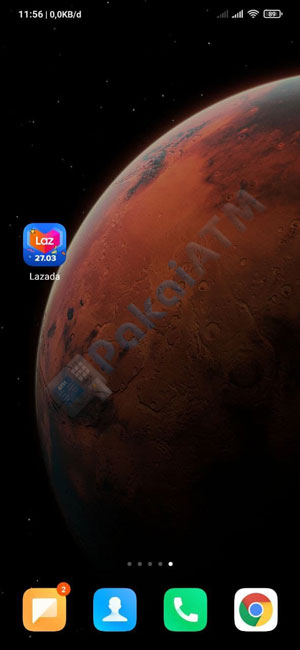 1. Buka Aplikasi Lazada