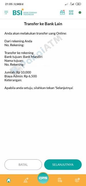 13. Konfirmasi Transfer