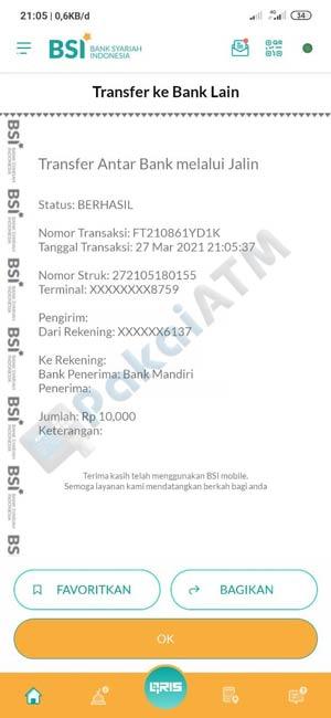 14. Transfer Antar Bank Berhasil