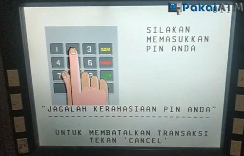 2. Masukkan PIN ATM BCA 1