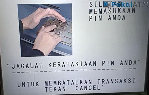 2. Masukkan PIN ATM BCA