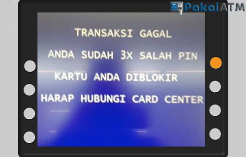 3. ATM Terblokir