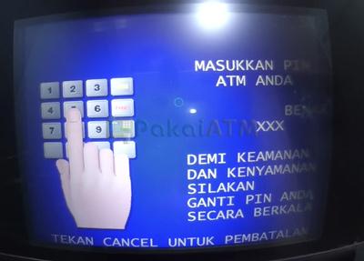 4. Masukkan 6 Digit PIN ATM