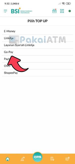 4. Pilih GoPay
