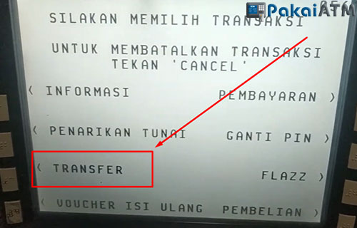 4. Pilih Menu Transfer 1