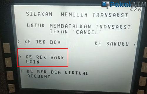 5. Pilih Ke Rek Bank Lain