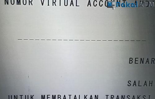 6. Masukkan Nomor Virtual Account