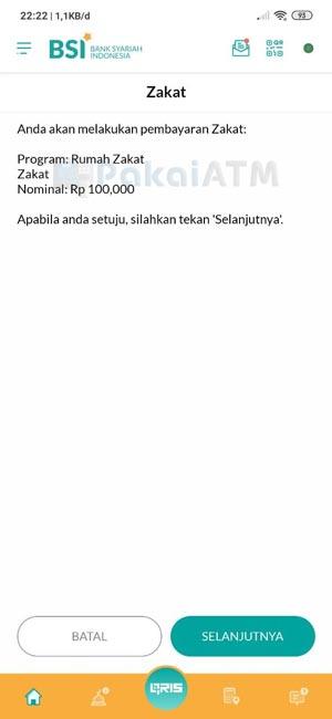 8. Konfirmasi Pembayaran Zakat