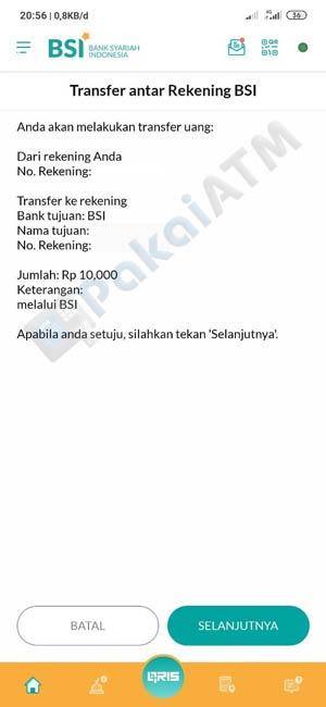 9. Konfirmasi Transfer