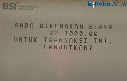 Biaya Admin Cetak Mutasi Bank Syariah Indonesia Melalui ATM