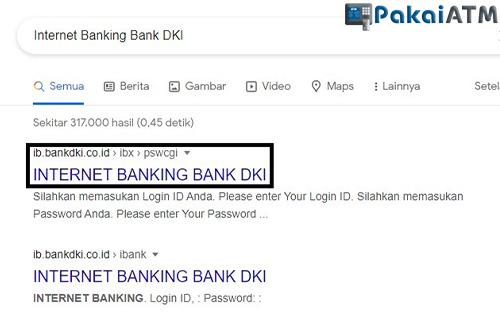 Buka Situs iBanking DKI