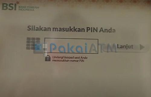 Input Nomor PIN