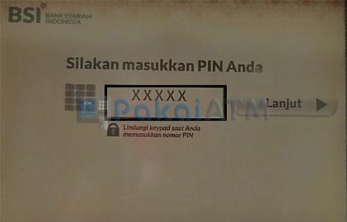 Input PIN ATM BSI