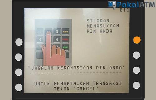 Input PIN ATM