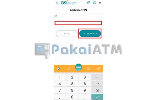 Input PIN BSI Mobile 2
