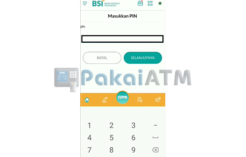 Input PIN BSI Mobile 3