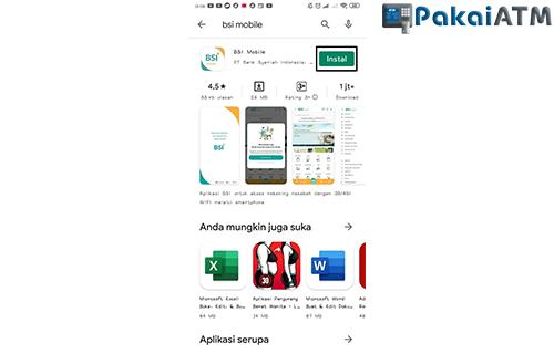 Instal Aplikasi BSI Mobile