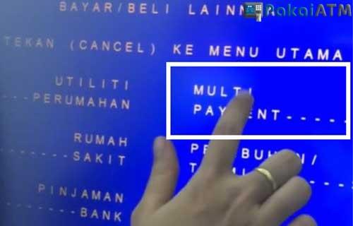 Lewat ATM Mandiri
