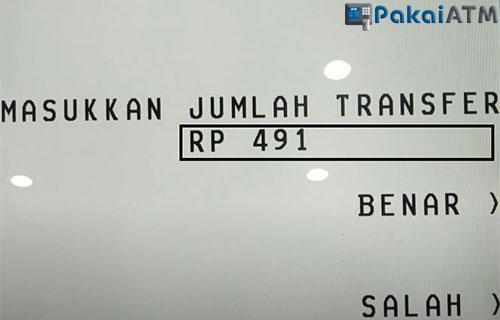 Masukkan Nominal Transfer