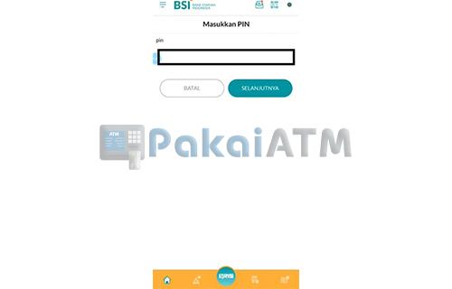 Masukkan PIN BSI Mobile 1
