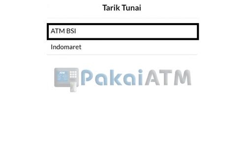 Pilih ATM BSI